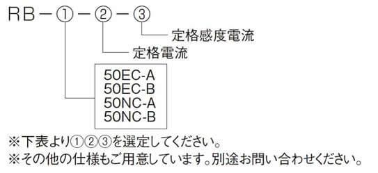 RB-50EC-A、RB-50EC-B、RB-50NC-A、RB-50NC-B