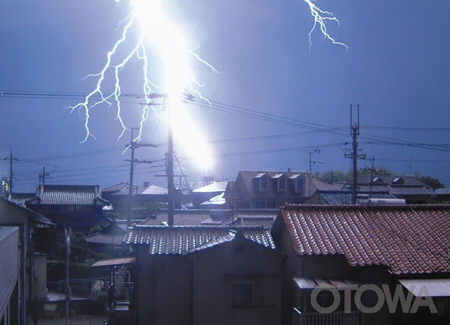 第7回 雷写真コンテスト受賞作品 銅賞 -驚愕の落雷-