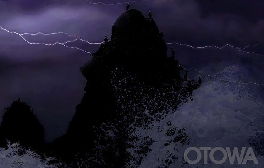 第8回 雷写真コンテスト受賞作品 銅賞 -荒天志賀の島-