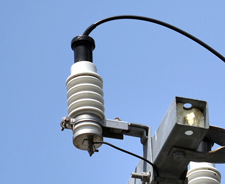 LAコネクタ 避雷器接続端子