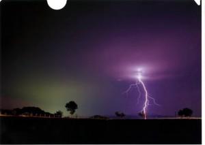 第5回雷写真コンテスト 佳作作品「美的落雷」
