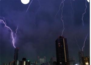 第6回雷写真コンテスト 銀賞作品「同時落雷」